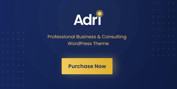 Purchase WordPress Theme | Adri - Business and Consulting WordPress Theme