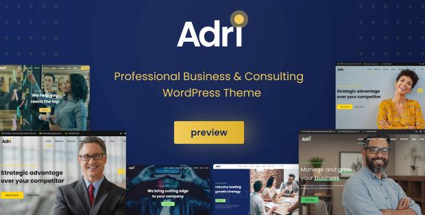 WordPress themes on sales | Adri - Business and Consulting WordPress Theme