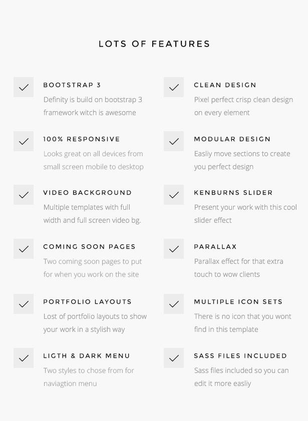 ft list - Definity - Multipurpose One/Multi Page Template
